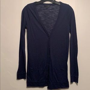 Topshop Navy Heathered Cardigan